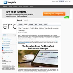 The Complete Guide For Hiring Test Environment Manager by Enov8