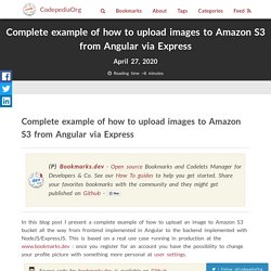 Complete example of how to upload images to Amazon S3 from Angular via Express – CodepediaOrg