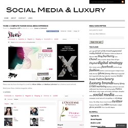 Ykone: a complete fashion social media experience « The luxury industry and Social Media