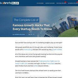 The Complete List of Famous Growth Hacks That Every Startup Needs To Know - SEO Blog by Ahrefs
