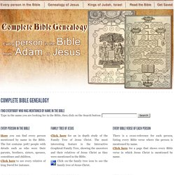Complete Bible Genealogy - Jesus family tree - Kings of Judah and Israel
