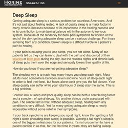 The complete guide to getting Deep Sleep