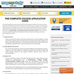 Complete Guidance for College Application Through Experts