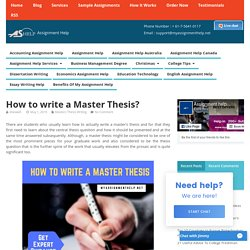 How to write a Master Thesis?- Complete Expert Guidance
