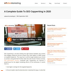 A Complete Guide To SEO Copywriting in 2020