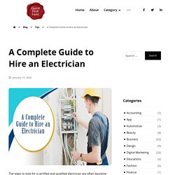 A Complete Guide to Hire an Electrician