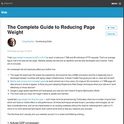 The Complete Guide to Reducing Page Weight