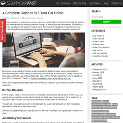 A Complete Guide to Sell Your Car Online -