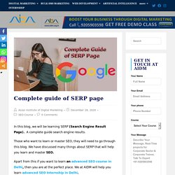 Complete guide of SERP page