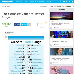 The Complete Guide to Twitter Lingo