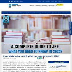 A complete guide to JEE: What you need to know in 2020? -