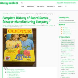 Complete History of Board Games: Schaper Manufacturing Company – Geeky Hobbies