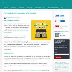New Homeowner Safety Checklist