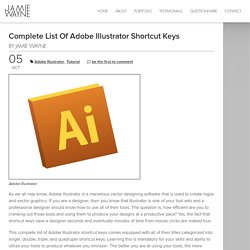 Complete List of Adobe Illustrator Shortcut Keys