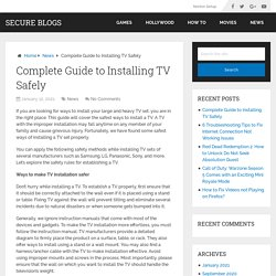 Complete Guide to Installing TV Safely