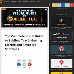 The Complete Visual Guide to Sublime Text 3: Getting Started and Keyboard Shortcuts
