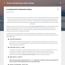 A complete brief on Kubernetes training