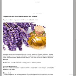 Complete Guide: How to Use Lavender Essential Oil in Your Home - Demi Stanley