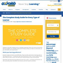 The Complete Study Guide for Every Type of Learner