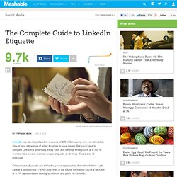 The Complete Guide to LinkedIn Etiquette