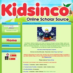 Complete List of Playscripts | K I D S I N CO.com - Free Playscripts for Kids!