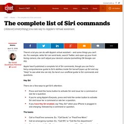 The complete list of Siri commands