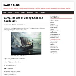 Complete List of Viking Gods and Goddesses