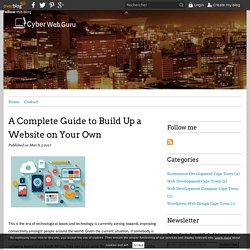 A Complete Guide to Build Up a Website on Your Own