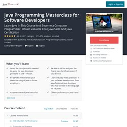 Complete Java Masterclass (Updated for Java 10)