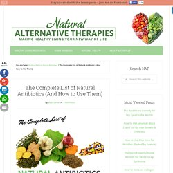 The Complete List of Natural Antibiotics (And How to Use Them)