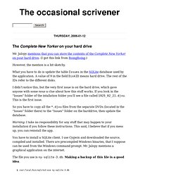 The <em>Complete New Yorker</em> on your hard drive - The occasional scrivener - Gustaf Erikson's weblog
