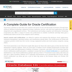 A Complete Guide for Oracle Certification