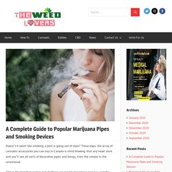 A Complete Guide to Popular Marijuana Pipes and Smoking Devices - The Weed Lovers