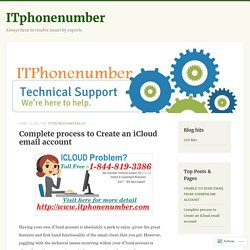 Complete process to Create an iCloud email account – ITphonenumber