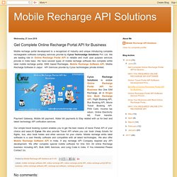 Get Complete Online Recharge Portal API for Business