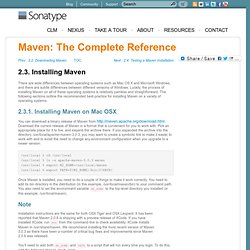 Maven: The Complete Reference - 2.3. Installing Maven