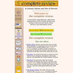 Complete Review - Welcome to the Complete Review