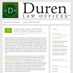 Complete Legal Services with Christopher Duren