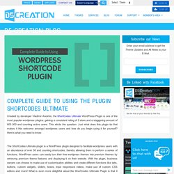 Complete Guide to Using the Plugin ShortCodes Ultimate