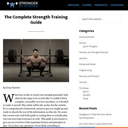 The Complete Strength Training Guide