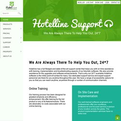 Our Complete Support Options -Hotelline.biz