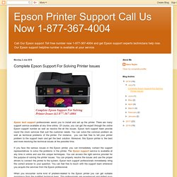 Complete Epson Support For Solving Printer Issues