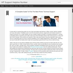 A Complete Guide To Find The Best Printer Technical Support