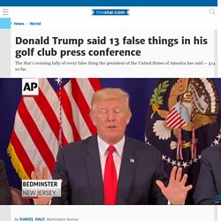 The complete list of all 33 false things Donald Trump has said as president so far