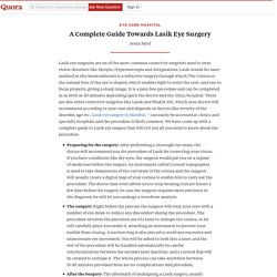 A Complete Guide Towards Lasik Eye Surgery
