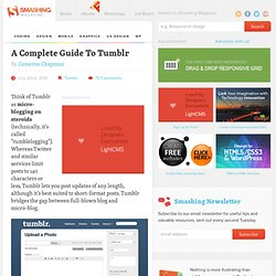 A Complete Guide To Tumblr - Smashing Coding