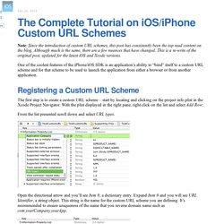 The Complete Tutorial on iOS/iPhone Custom URL Schemes