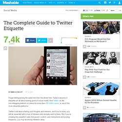 The Complete Guide to Twitter Etiquette