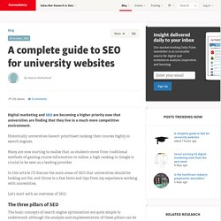 A complete guide to SEO for university websites