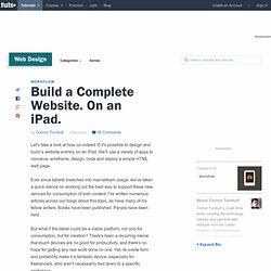 Build a Complete Website. On an iPad.